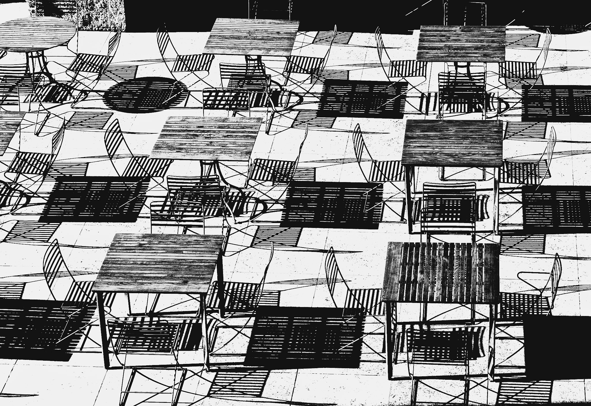 Chairs, Tables and Shadows